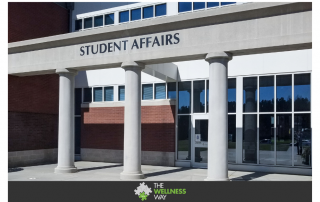 image of college student building